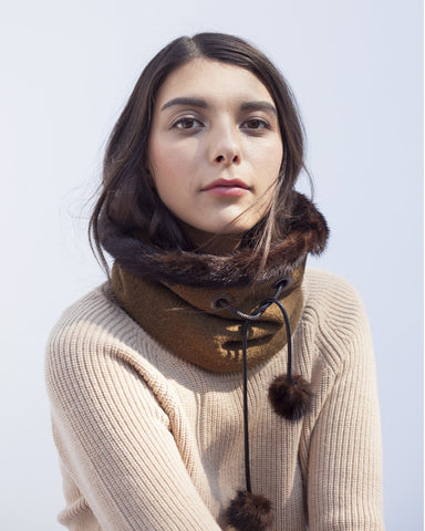 Olive Winter Neckwarmer