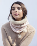 Blush Winter Neckwarmer with Fur