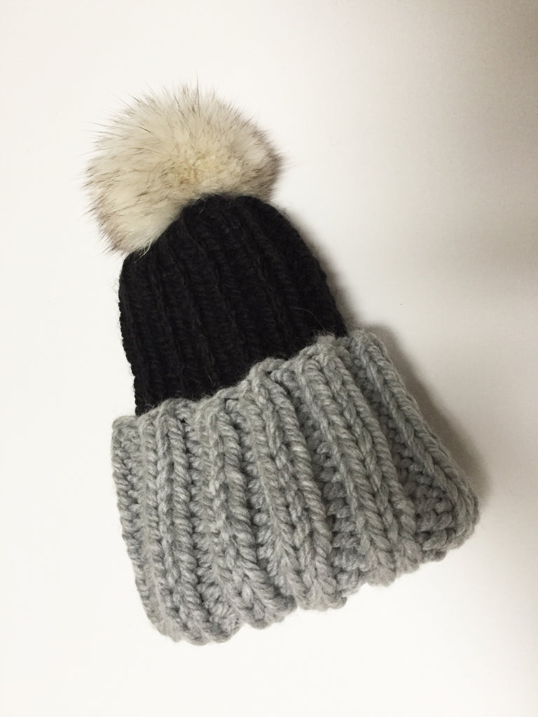 Little Ones | Black + Grey Toque