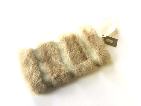 Fur Muff | Cream/Leather
