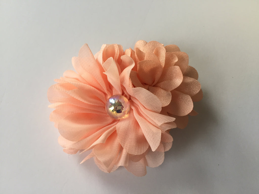 Peach Flower Clip