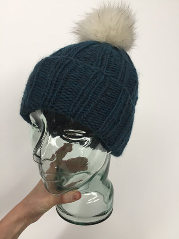 Teal Knit Toque