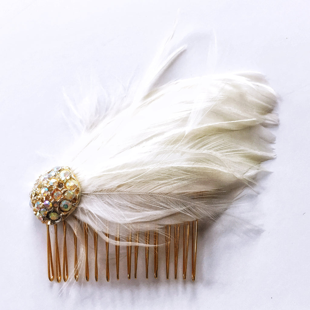 Vintage Feather Comb