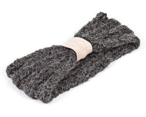 Charcoal and Blush Kids and Baby Knit Headband