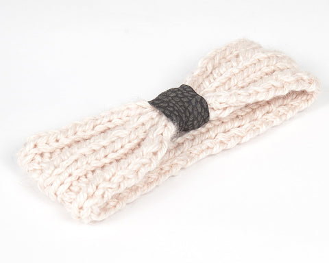 Kids/Baby Blush and Grey Knit Headband