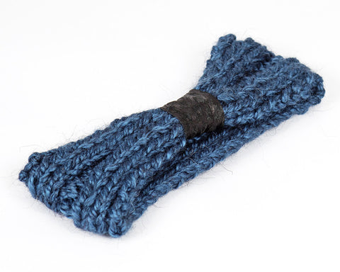 Teal Blue and Black Knit Headband for Kids and Baby