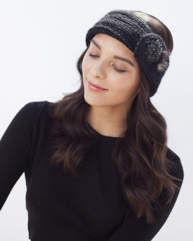 Black Knit Headband