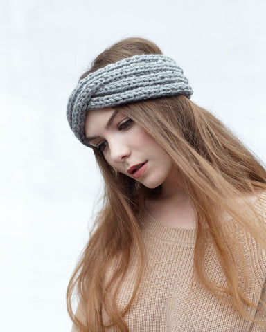 Twist Headband | Grey