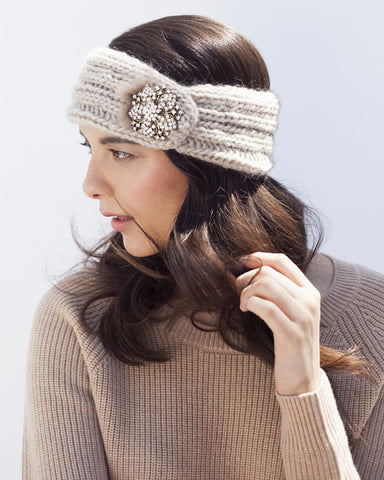 Light Brown Knit Headband