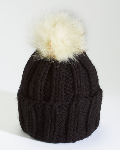 Little Ones | Black Knit Toque