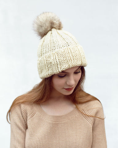 Ivory Knit Toque