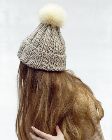Oatmeal Knit Toque