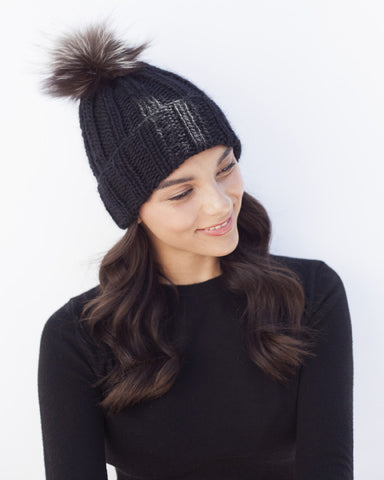 Black Knit Toque