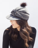 Grey Railroad Winter Cap