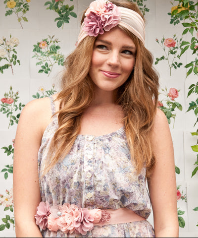 Flower Sash Belt | Dusty Pink