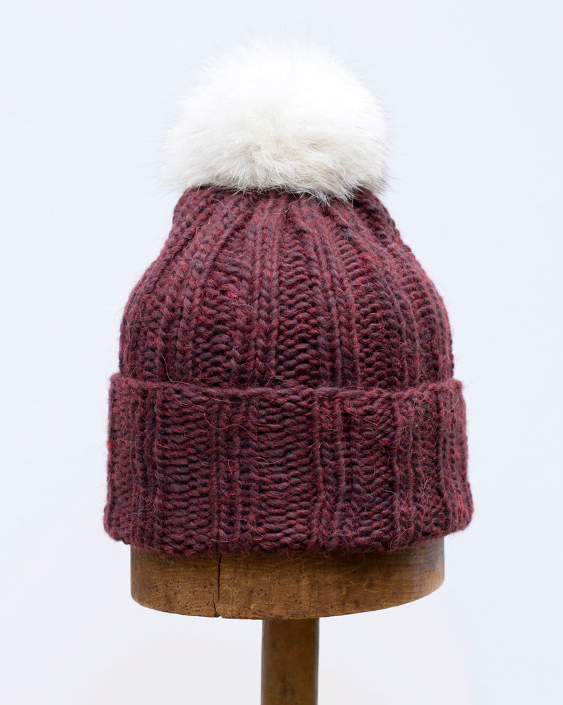 Black Cherry Knit Toque