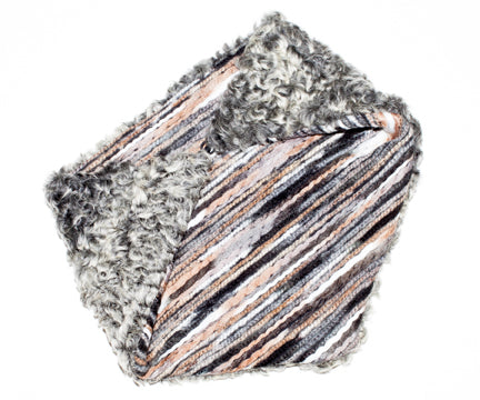Grey Persian Lamb Fur Cowl