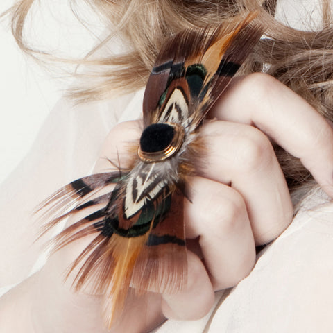 Feather Double Ring