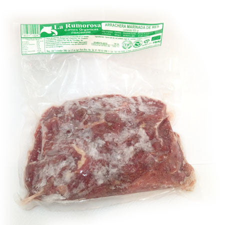 Arrachera marinada de res (500g)