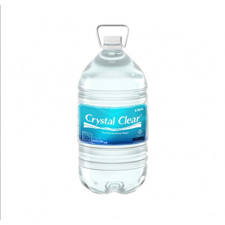 Crystal Clear Purified Drinking Water 6L