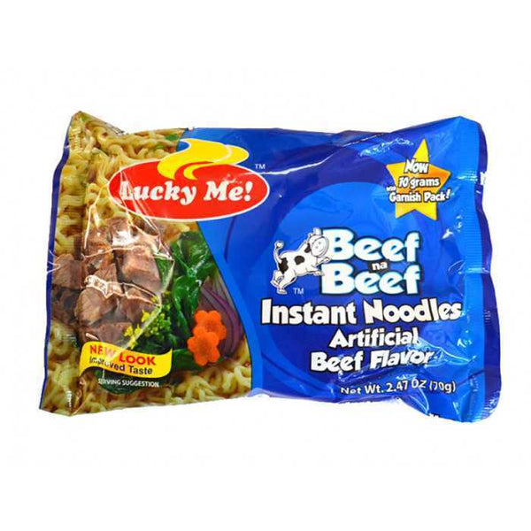 Lucky Me Beef Na Beef  Noodles Pouch