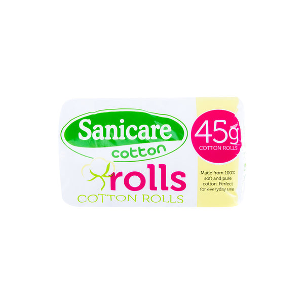 Sanicare Absorbent Cotton Rolls 45G
