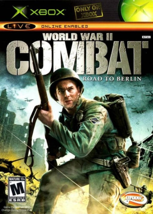 World War II Combat Road to Berlin Microsoft Xbox Game