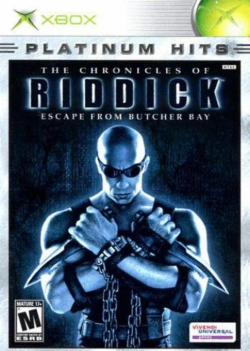 Chronicles of Riddick Escape From Butcher Bay Platinum Hits Microsoft Xbox Game