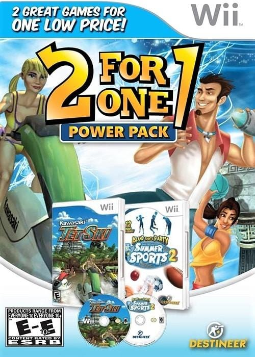 2 for 1 Power Pack Kawasaki Jet Ski and Summer Sports 2 Nintendo Wii Game - Gandorion Games