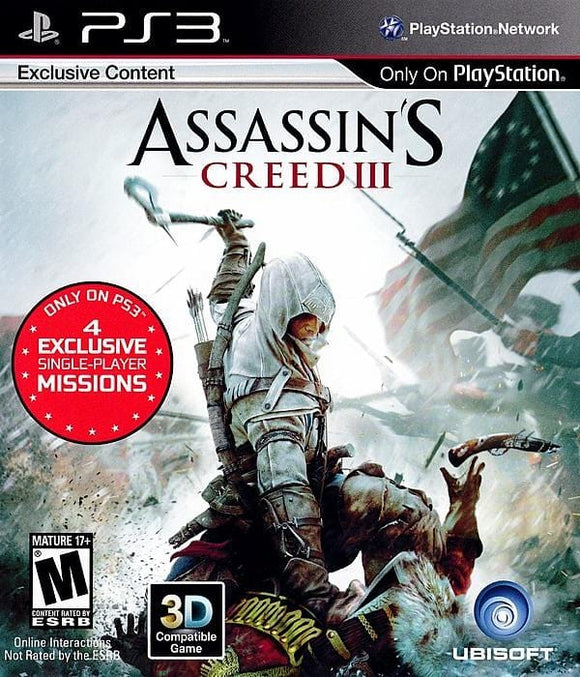 Assassin's Creed III Sony PlayStation 3 Game PS3 - Gandorion Games