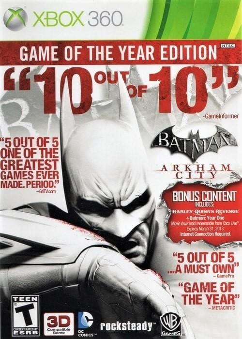 Batman Arkham City (Game of the Year Edition) Xbox 360 - Gandorion Games