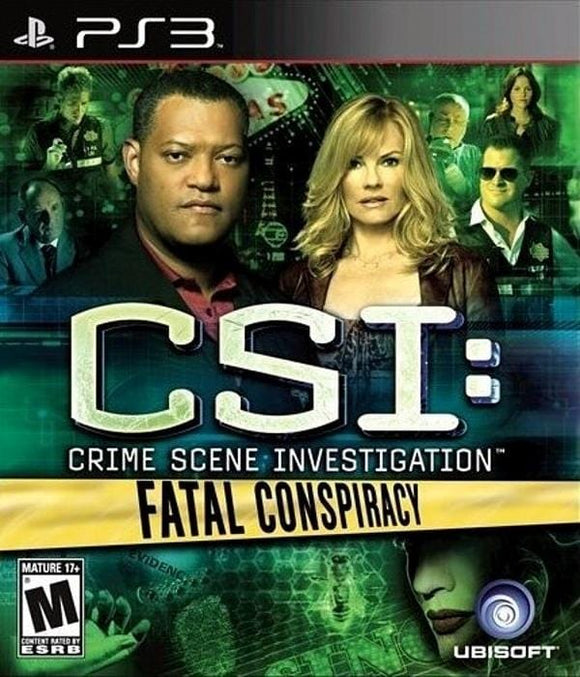 CSI Fatal Conspiracy Sony PlayStation 3 Game PS3 - Gandorion Games