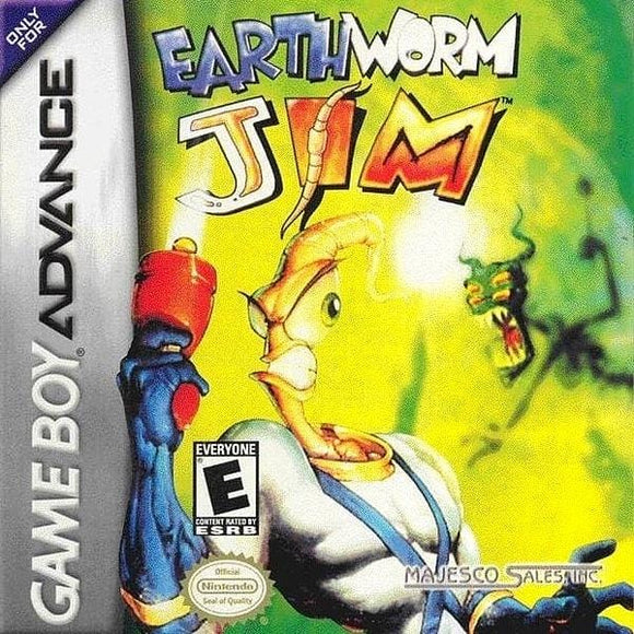 Earthworm Jim Nintendo Game Boy Advance Game - Gandorion Games