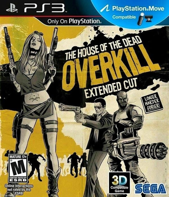 The House of the Dead Overkill - Extended Cut Sony PlayStation 3 Game PS3 - Gandorion Games