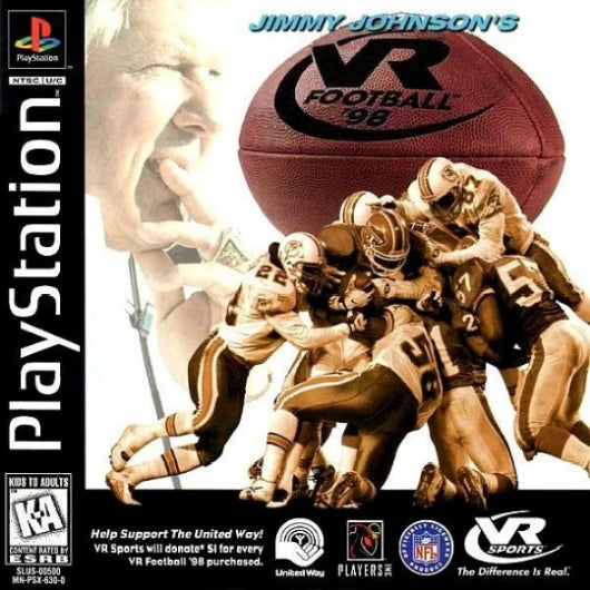 Jimmy Johnson's VR Football '98 PlayStation Game - Gandorion Games