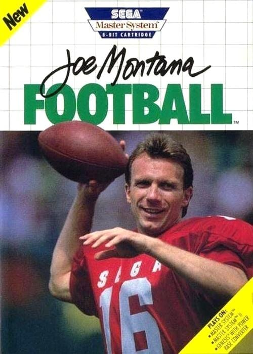 Joe Montana Football Sega Master System - Gandorion Games
