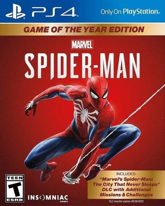 Marvel's Spider-Man Game of The Year Edition Sony PlayStation 4 - Gandorion Games