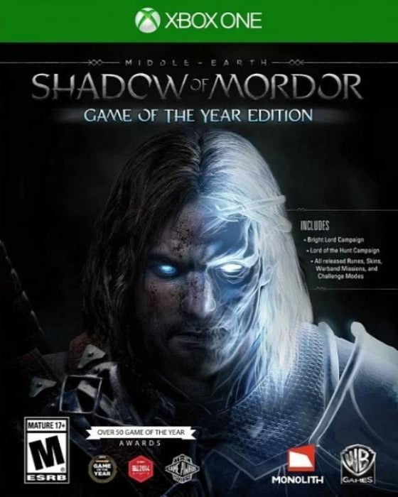 Middle Earth Shadow of Mordor Game of the Year Edition Xbox One - Gandorion Games
