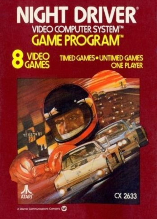 Night Driver Atari 2600 Game - Gandorion Games
