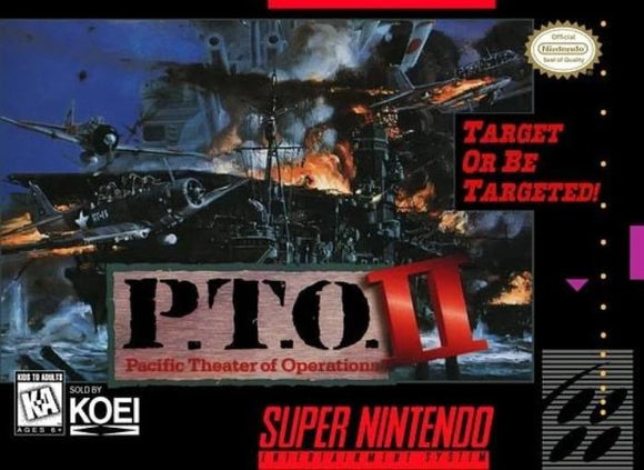 P.T.O. II Pacific Theater of Operations II SNES Super Nintendo - Gandorion Games