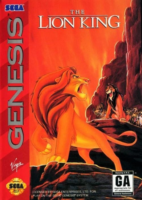 The Lion King Sega Genesis - Gandorion Games