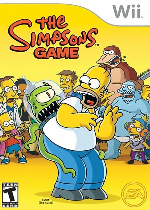 The Simpsons Game Nintendo Wii Game - Gandorion Games