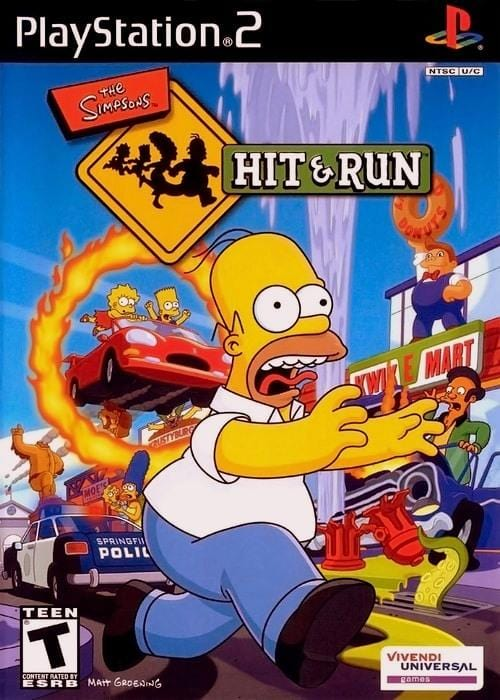 The Simpsons Hit & Run Sony PlayStation 2 - Gandorion Games