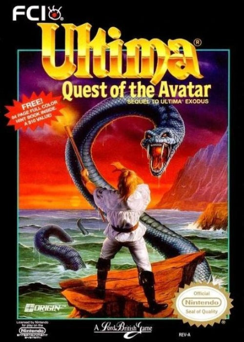 Ultima Quest of the Avatar Nintendo NES - Gandorion Games