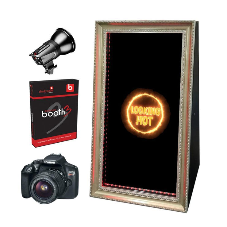 PMB-400 FOLDABLE MIRROR BOOTH STARTER PACKAGE | SpinPix360