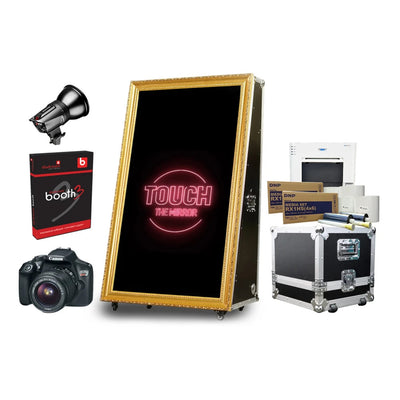 PMB-100 ROAD CASE MIRROR BOOTH PREMIUM PACKAGE | SpinPix360