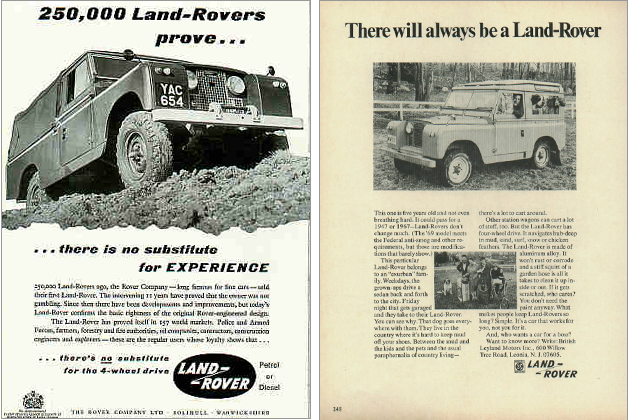there will always be a land-rover. 1