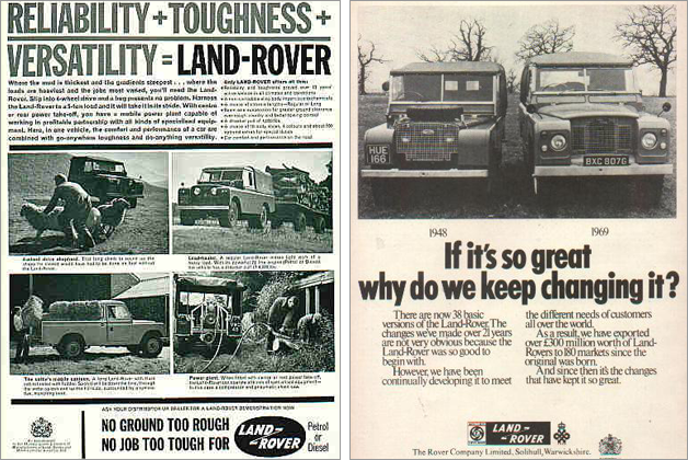 there will always be a land-rover. 3