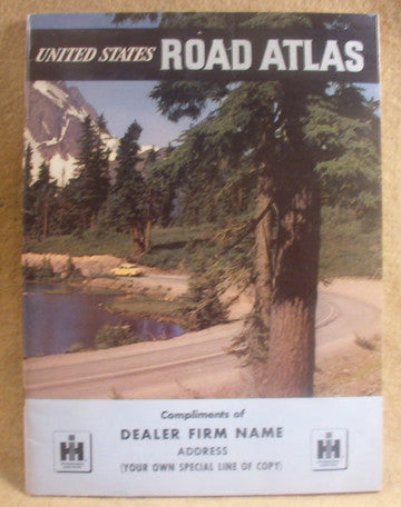 vintage road atlas. 1