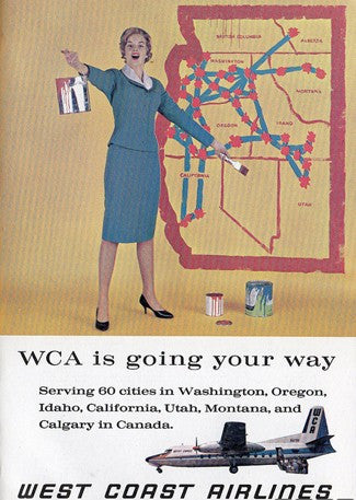 west coast airlines. 1